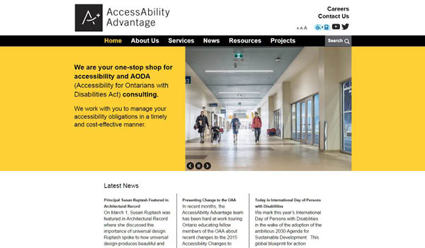AccessAbility Advatage website homepage