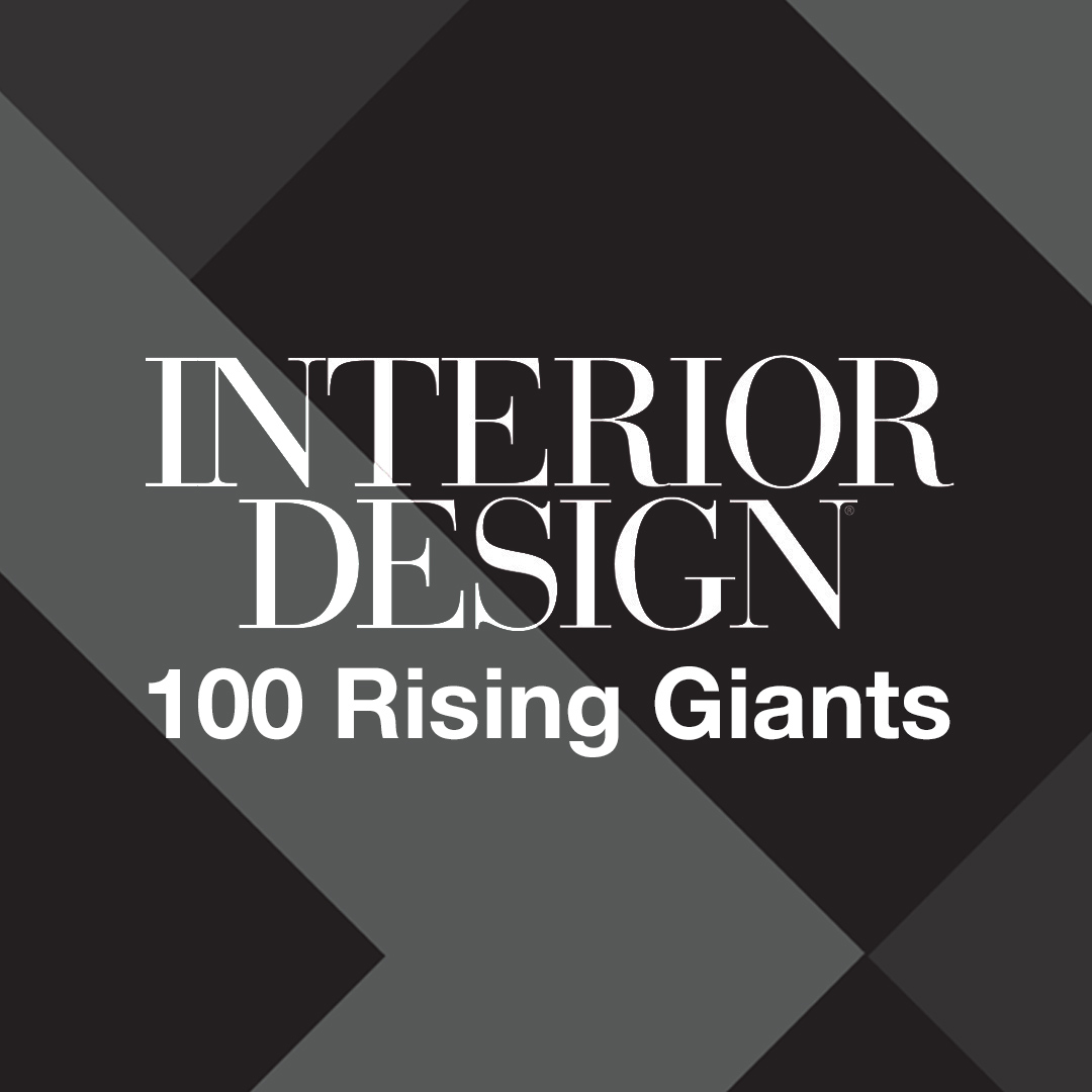 Interior Design logo on a textured background