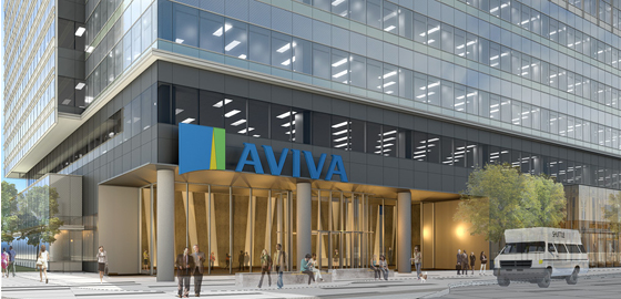 Aviva office tower entrance