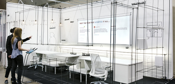 Display of a reinvisioned workspace