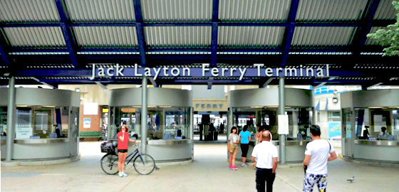 Service booths at the Jack Layton Ferry Terminal
