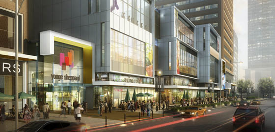 Streetscape at Yonge Sheppard Centre