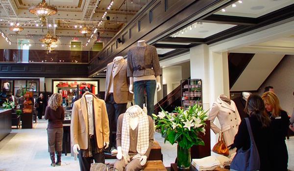 Interior sales floor