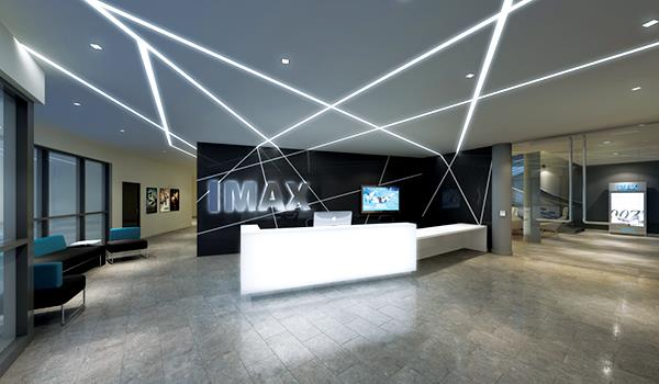 Reception desk at IMAX