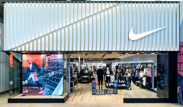 Nike branded storefront in Yorkdale Mall