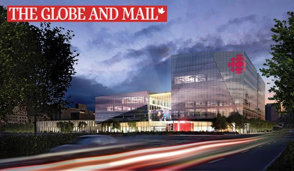 Rendering of the propoosed new Radio-Canada HQ in Montreal