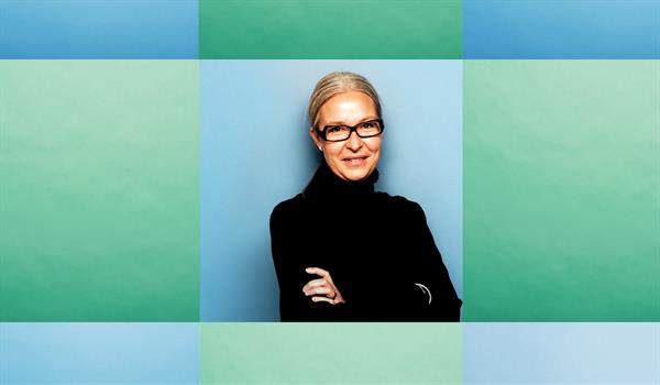 photo of Heather Rolleston on a green and blue background