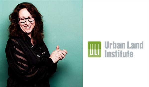 Caroline Robbie and the Urban Land Institute logo