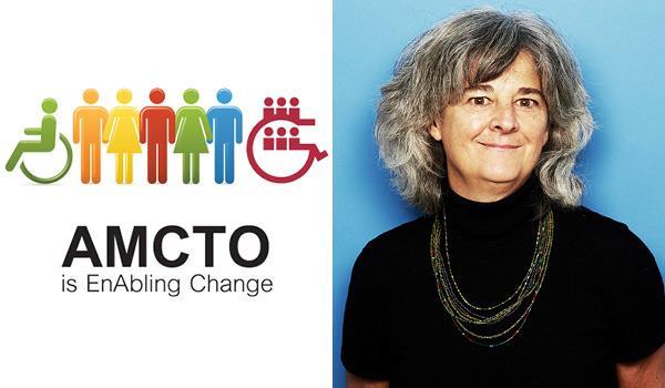 photo of Susan beside the AMCTO award logo