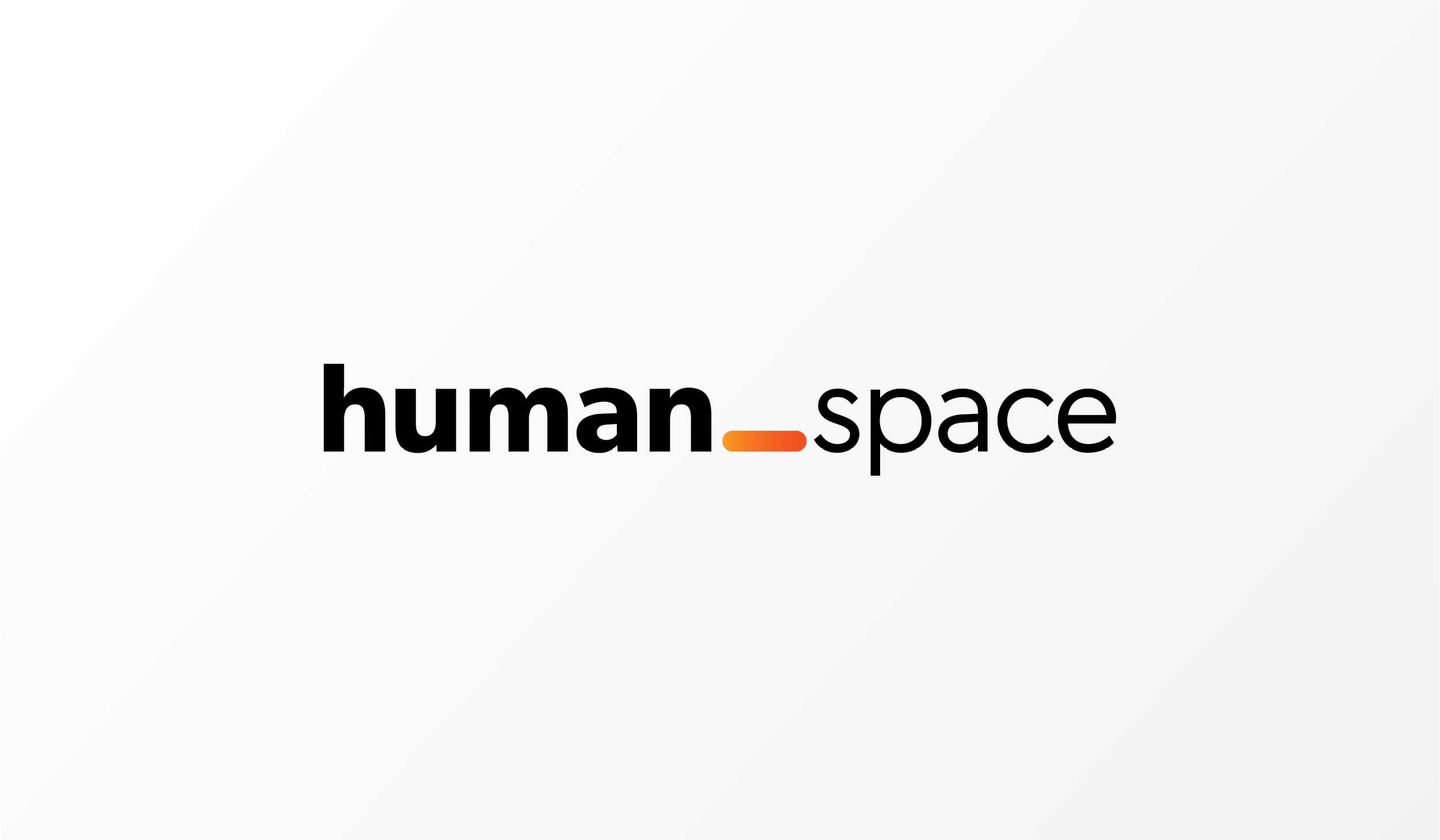 """human_space"" with human bolded and the _ in orange ombre"