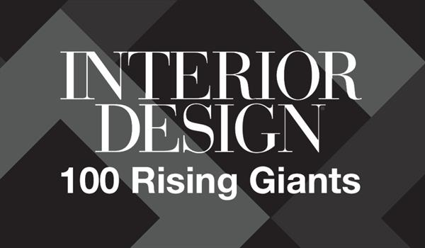 Interior Design logo above the words 100 Rising Giants