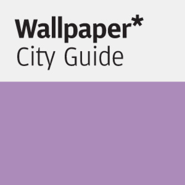 Wallpaper magazine City Guide with purple book cover