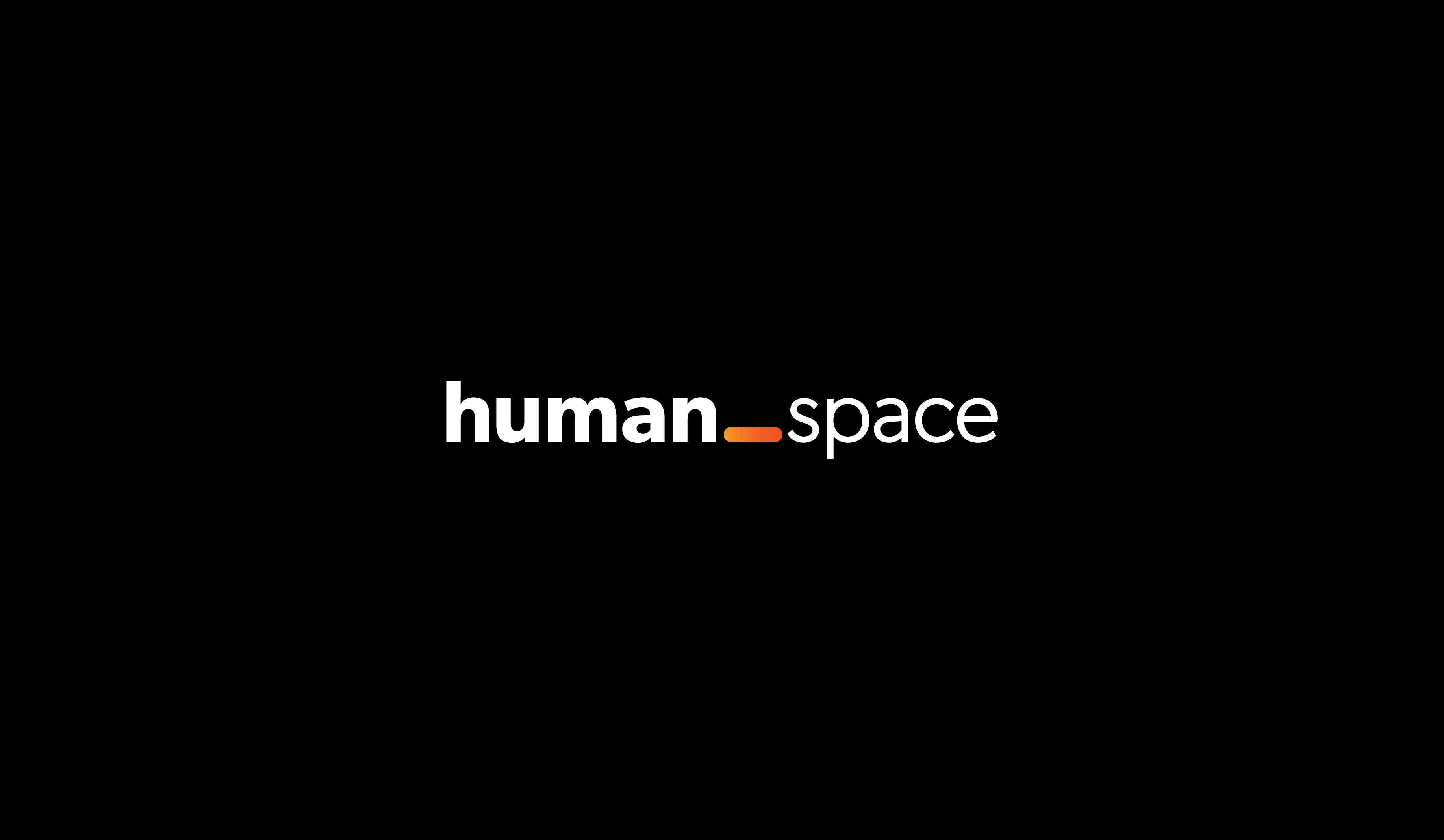 the Human Space logo on a black background