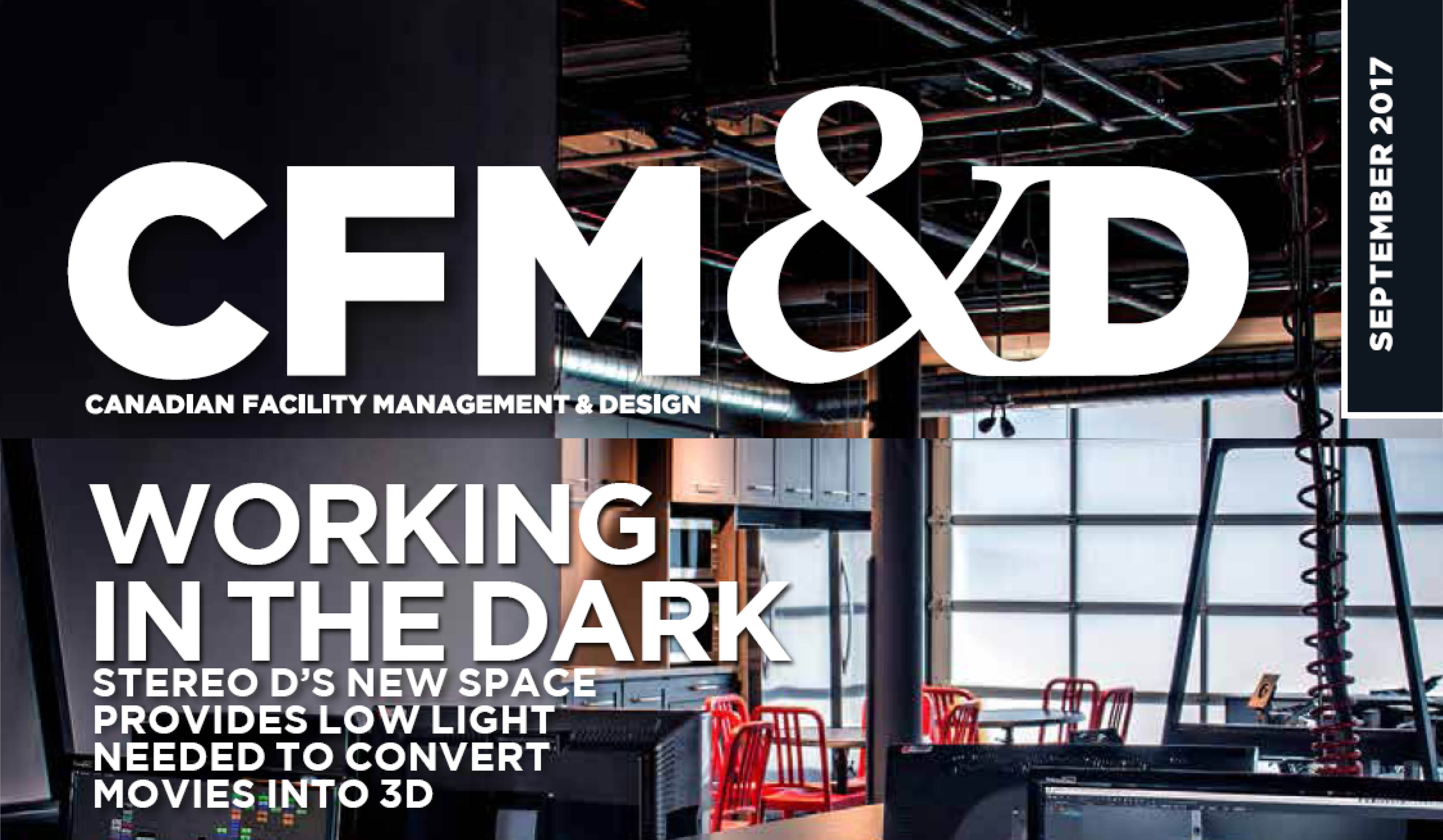 Top half of the CFM&D magazine cover