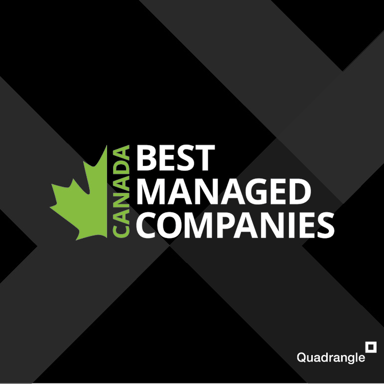 Canada's Best Managed logo on a black background