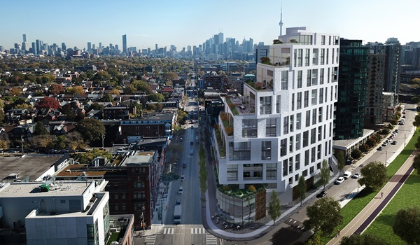 Aerial rendering of 1181 Queen Street West