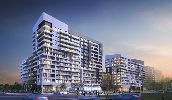 rendering of the mid-rise mixed-use York Condos