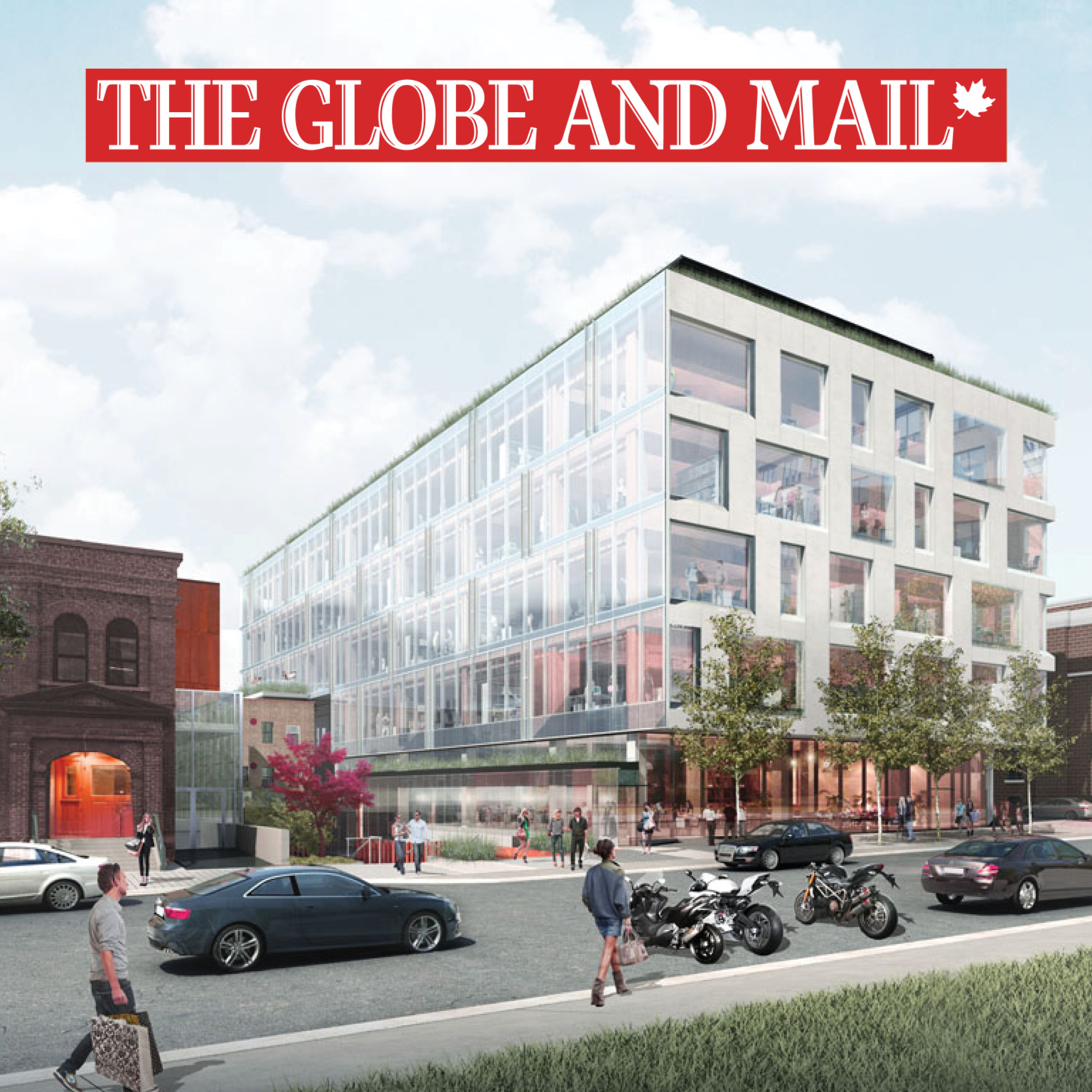 rendering of 80 Atlantic with the Globe and Mail logo