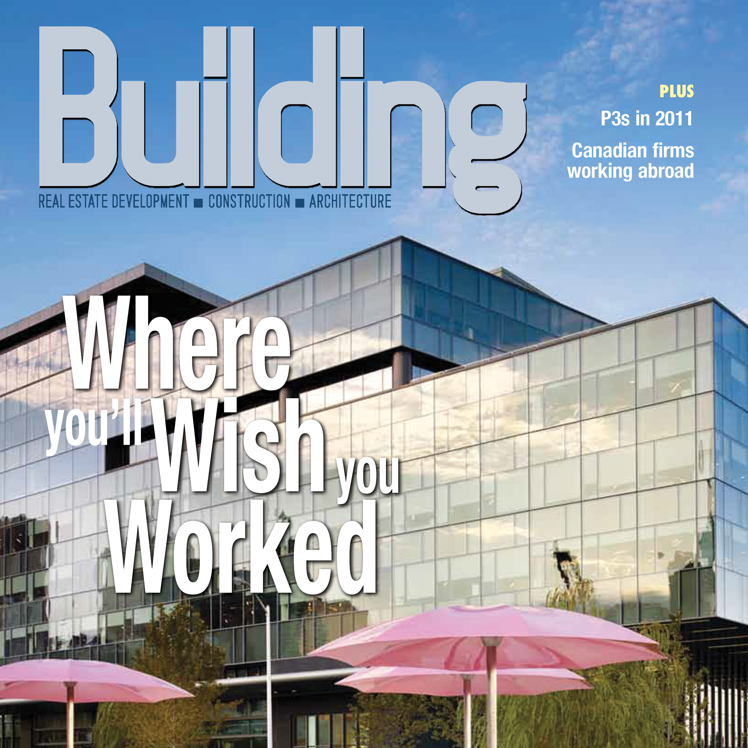 thumbnail image of the cover of Building magazine featuring Corus Quay