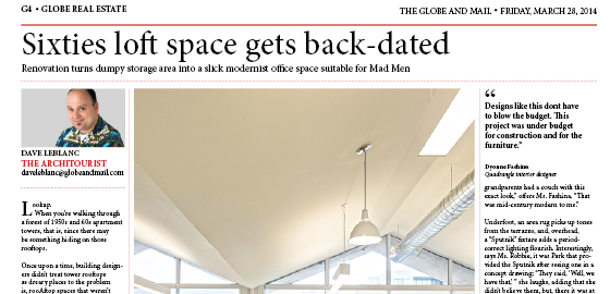 Sixties loft space gets back-dated