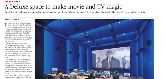 A Deluxe Space to Make Movie and TV Magic