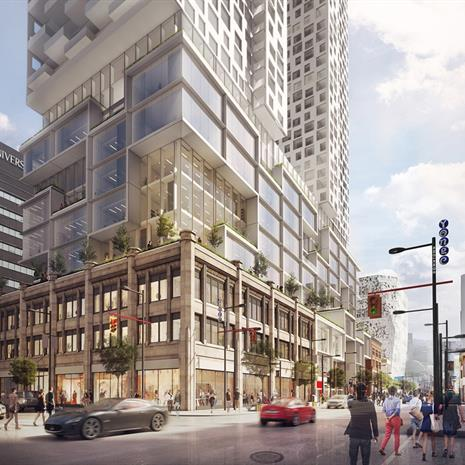Artistic rendering of 385 Yonge.