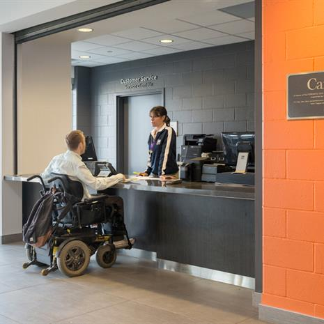 Accessible service counter