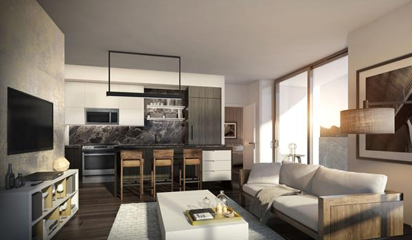 Interior rendering of Picnic Condos