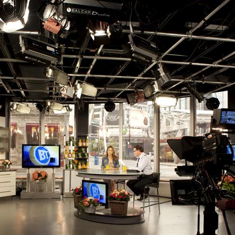 Breakfast Television film set.