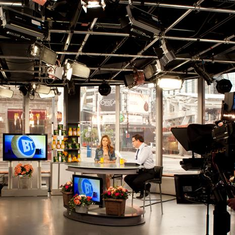 Breakfast Television recording set