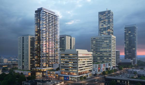 Arial view of Yonge Sheppard Centre